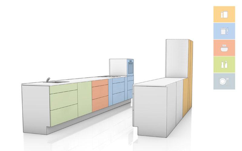 Layout de cozinha (formato de galeria)