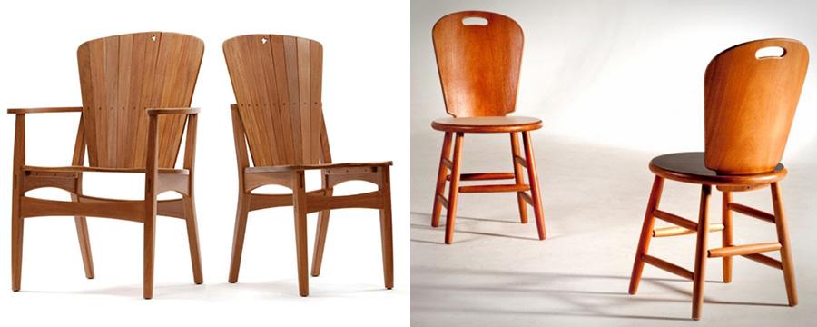 Cadeiras Estrela e São Paulo, de Carlos Motta, foram premiadas em primeiro lugar no MCB na década de 80