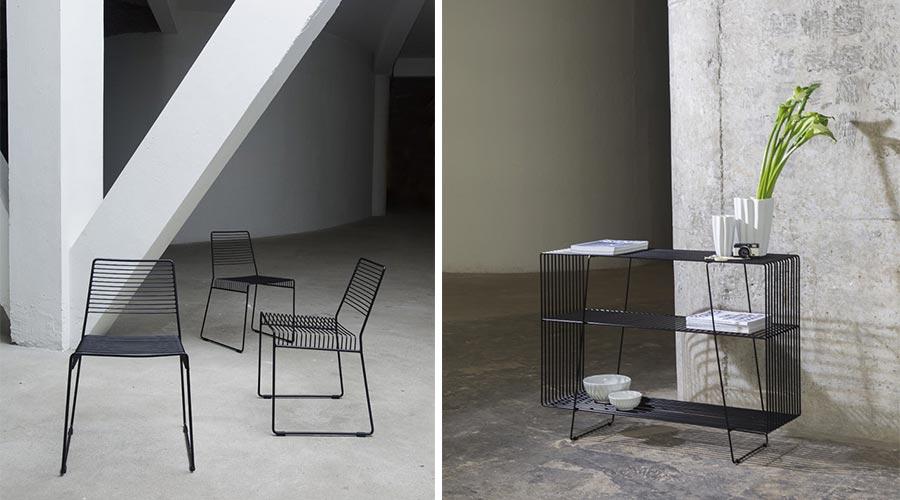 Cadeira Prado e aparador Telma. Design uruguaio do Estudio Claro