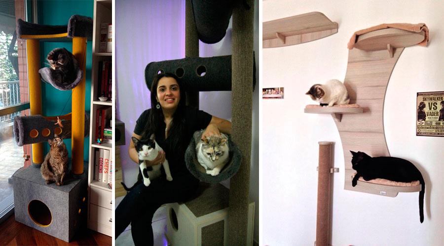A Cozy Gatos é uma marcenaria em solo brasileiro que explora o mercado de móveis para gatos