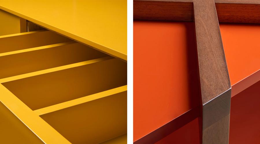 O marceneiro que investe no uso da pintura e da laca, acaba por agregar valor ao móvel que produz, elevando sua qualidade