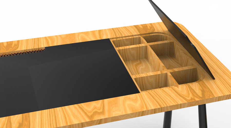 Tri-Design desenvolveu a Escrivaninha Toc para a Toca da Movelaria, lançamento para 2017