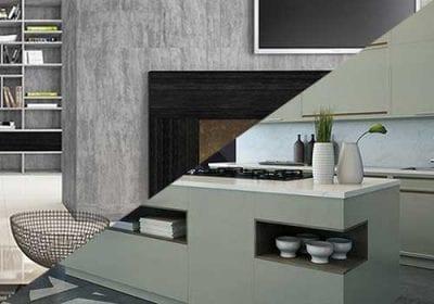 Guararapes oferece a Linha Comfort com oito padrões de painéis de MDF – divididos em materiais como tecidos e o concreto, além de unicores