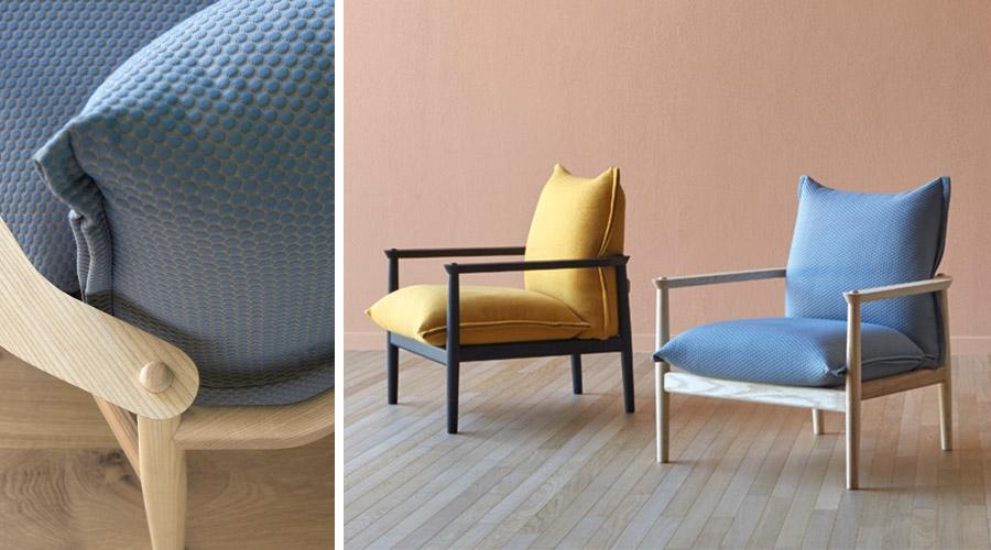 A poltrona Sergi, da italiana Miniforms também encanta pela simplicidade dos encaixes e acabamentos