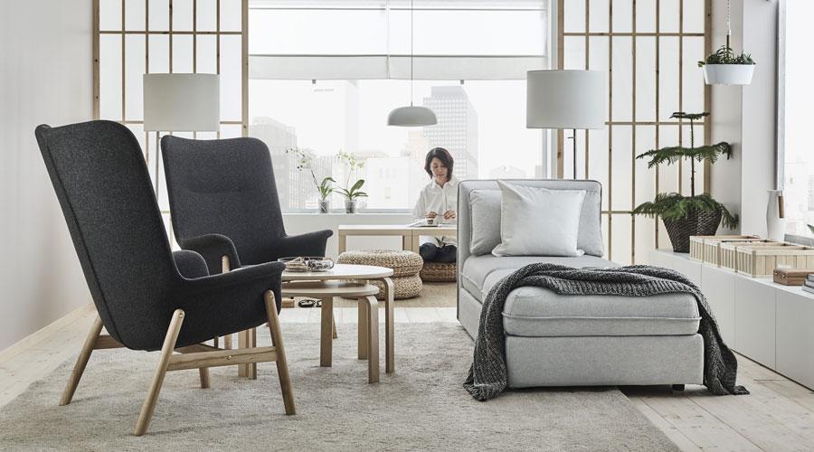 O novo catálogo inspira os consumidores a olharem além das paredes de suas casas e a criar um espaço confortável