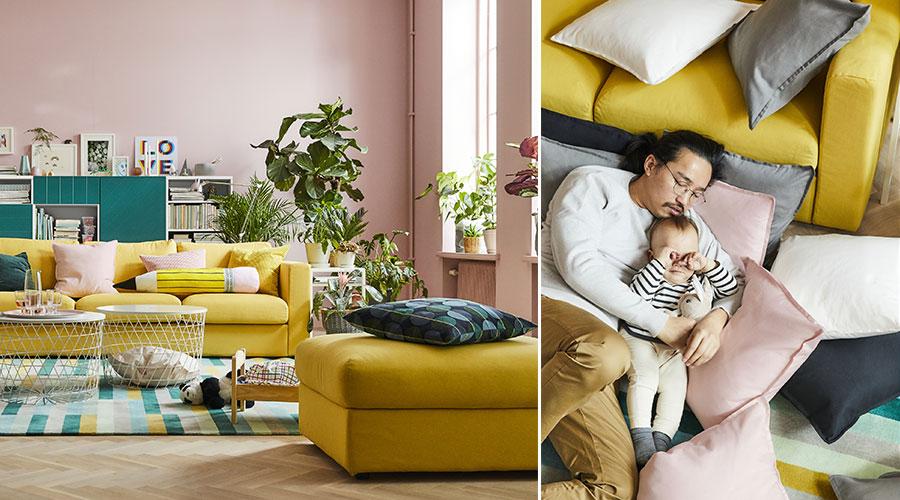 A sala de estar é o lugar onde a vida acontece, segundo pesquisa encaminhada pela IKEA para o catálogo 2018
