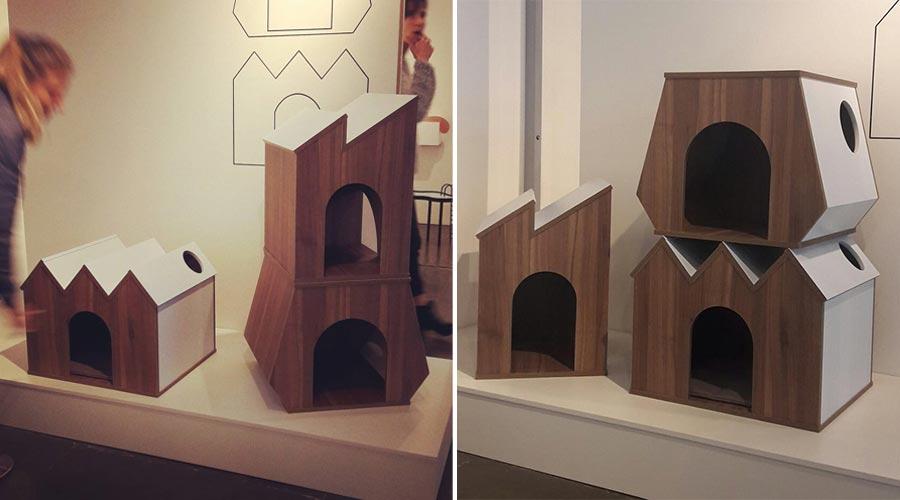 As coleções Aka, Casas para Pets e Aurora do designer Leo di Caprio. As peças foram expostas na feira Made (Mercado, Arte e Design) 2017