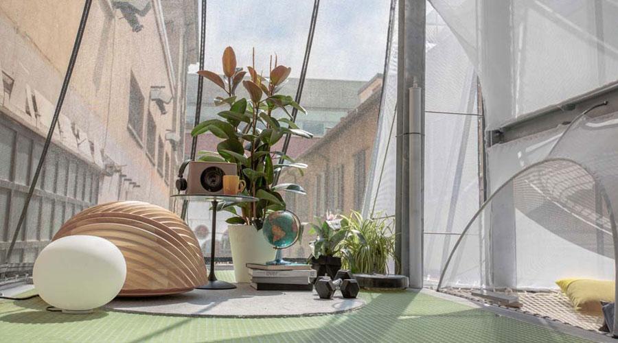 Heimtextil - futuro urbano! A tendência Espaço Saudável busca características de design inovadoras que melhoram nossa saúde, felicidade, atenção e produtividade