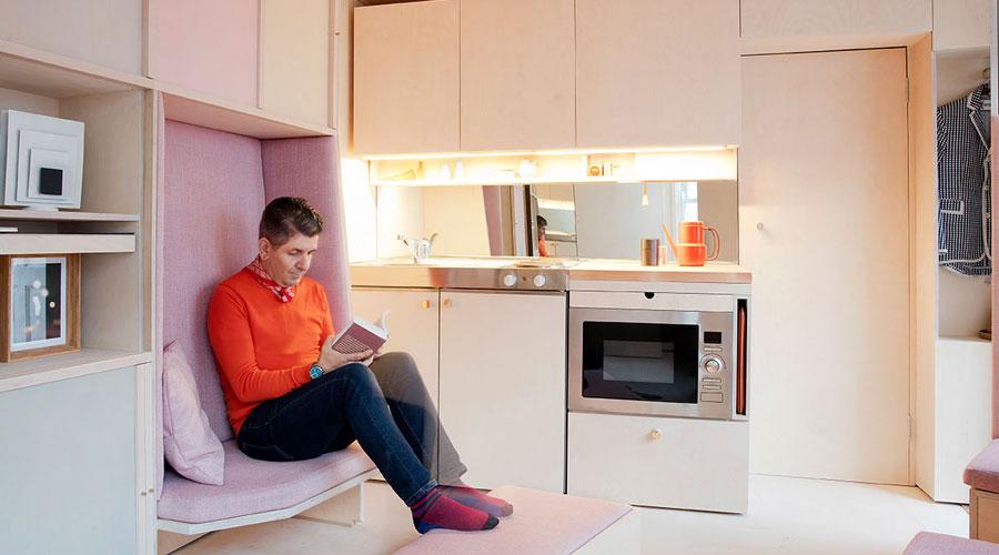 Heimtextil - futuro urbano! A tendência Espaço Flexível mostra soluções para os habitantes das grandes cidades, que vivem em pequenos apartamentos