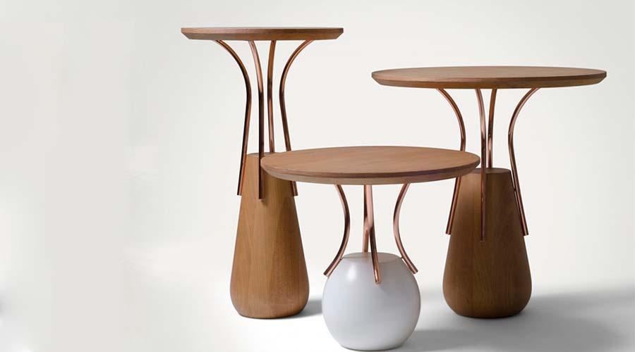 Mesa La Palme, do designer Fabrício Roncca, é finalista do Salão Design 2018