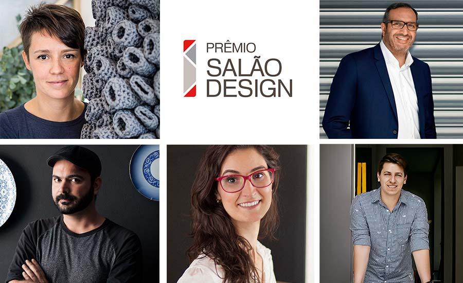 Júri do Salão Design 2018: Brunno Jahara, Bruno Faucz, Letícia Grisa, Nicole Tomazi, e Salvatore Figliuzzi