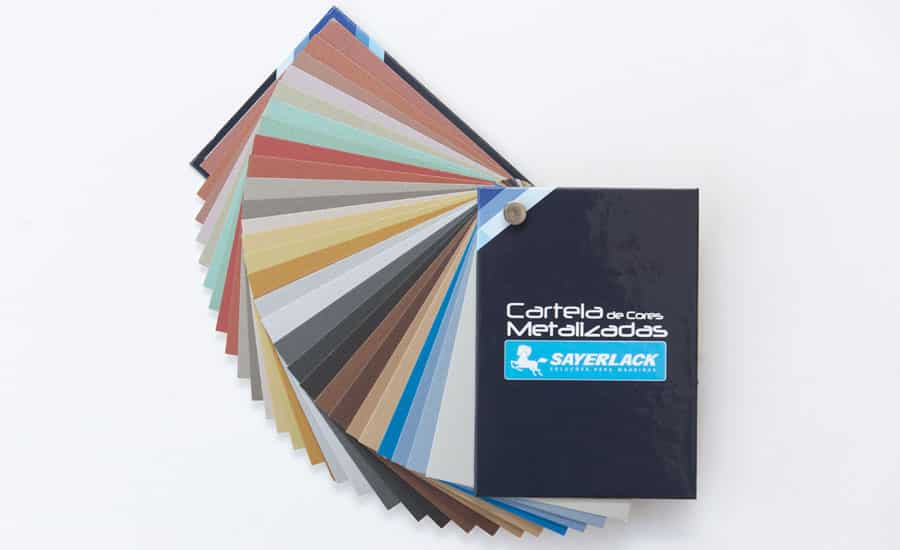 Com o Sistema Tintométrico da Sayerlack, qualquer cor em laca pode ser produzida em acabamentos liso e texturizado