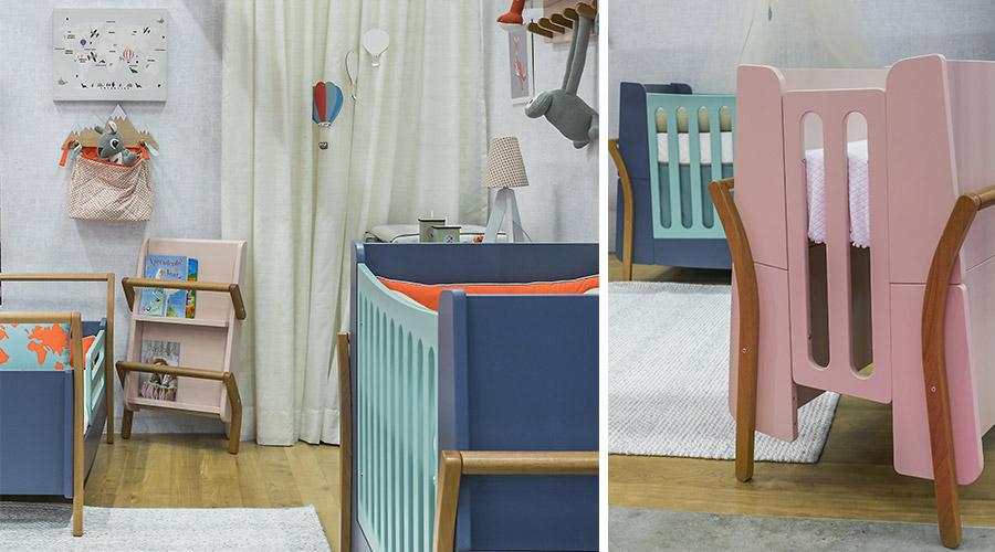A coleção NAU de móveis infantis, da Plataforma4 para a Cia do Móvel, oferece ainda cômoda, revisteiro e cabideiro