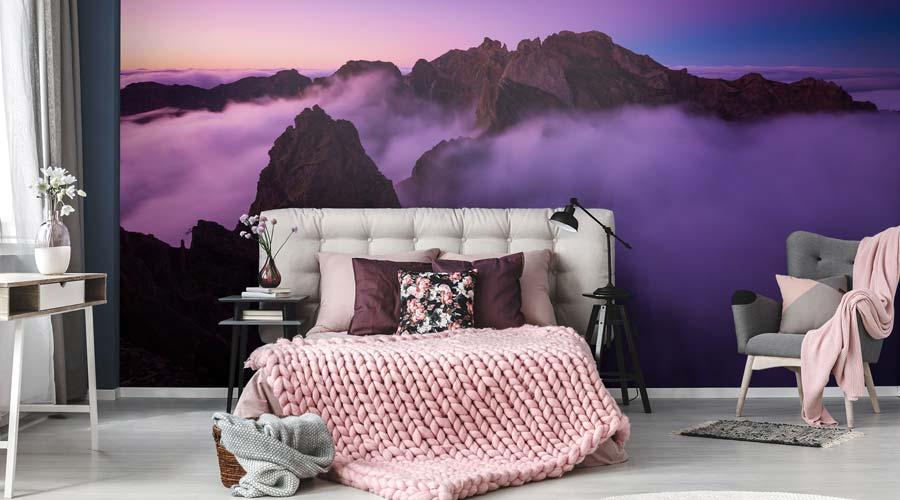 A cor do ano 2018 Ultra Violet se mostra extremamente flexível e inspiradora para uso na decoração