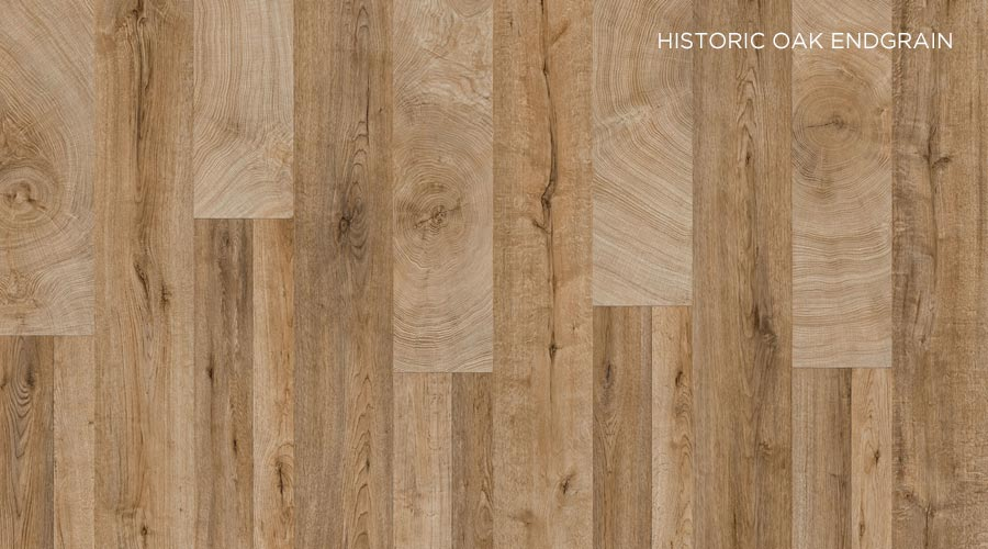 Decor Historic Oak Endgrain, da Schattdecor, integra tendência Community Zone