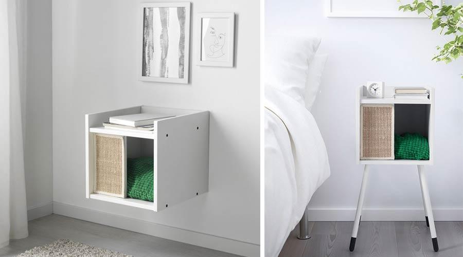 Há móveis que se assemelham a aparadores, camas e estantes, mas são compartimentos onde os animais podem relaxar