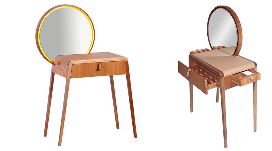Penteadeira Nena, de Mariana Beting Ferrarezi e Roberto Hercowitz, do Estúdio Em2 Design no Prêmio Salão Design 2018