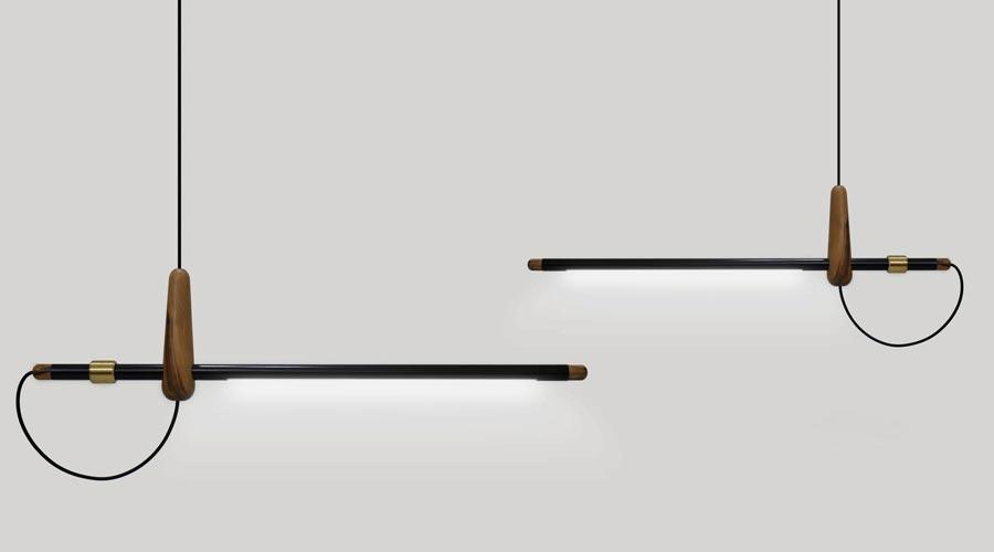 Luminária Costureira 1950, de André Ferri no Prêmio Salão Design 2018