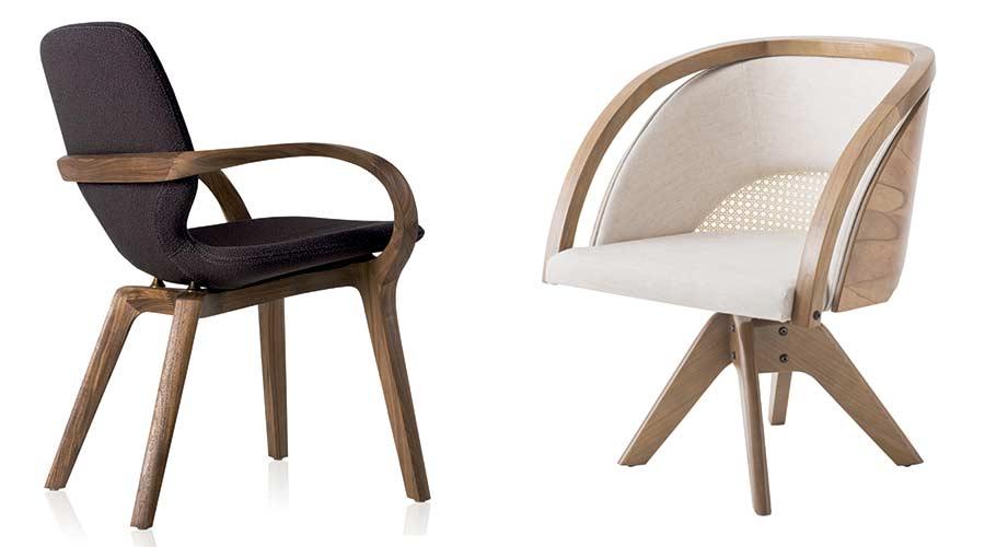 Cadeira MIA, de Jader Almeida, e Poltrona Flor, de Marta Manente na Semana de Design de Milão - Fuorisalone