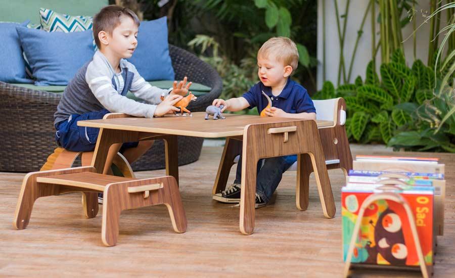 Arquitetos e designes, Karina e Eduardo Sucre, da Noos, criam móveis ergonômicos e lúdicos pensados a partir da perspectiva das crianças