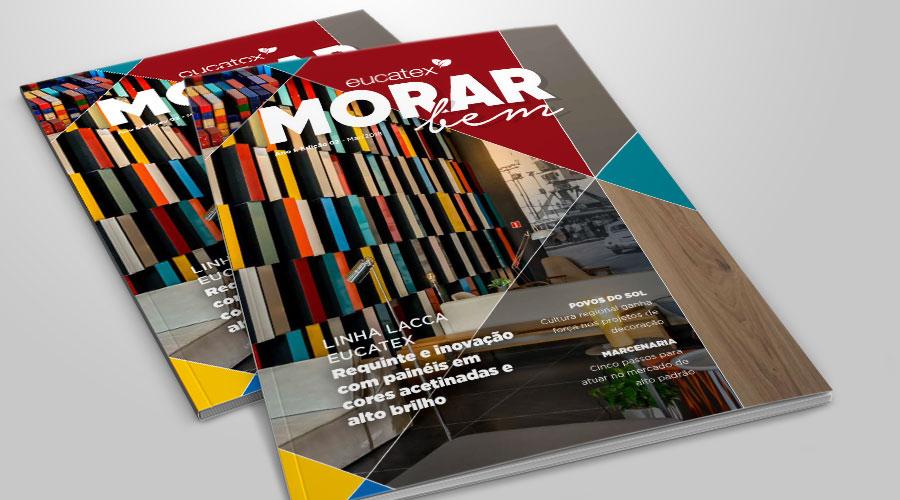 A segunda edição da revista Morar Bem, publicação da Eucatex, já está online. As cores e os temas regionais brasileiros são o foco das novas tendências apresentadas no mercado