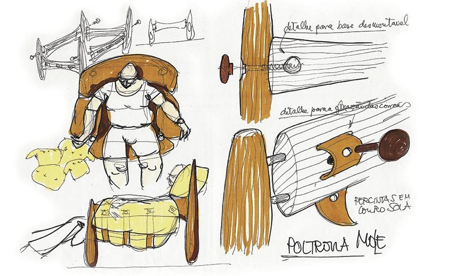 Sergio Rodrigues, um dos expoentes do design brasileiro, sempre foi um apaixonado pela madeira e profundo conhecedor das técnicas da marcenaria