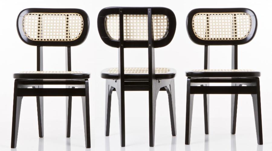 Cadeira Flórida, do designer Estevão Toledo, na versão palhinha natural