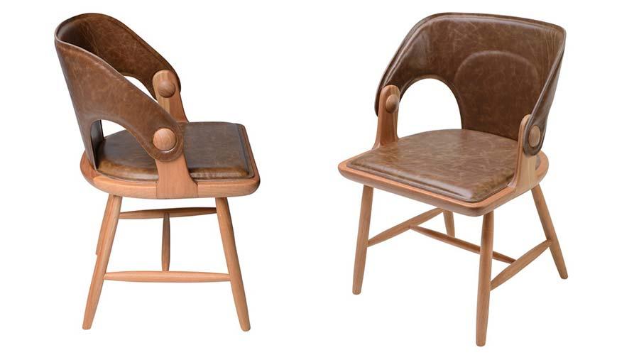 Rejane Carvalho Leite conta que utilizou uma madeira pouco convencional, denominada Uva do Japão ao projetar a Cadeira Asa