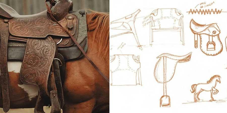 Designer queria trabalhar com uma concha única, presa na estrutura da poltrona, como se fosse um cavalo encilhado
