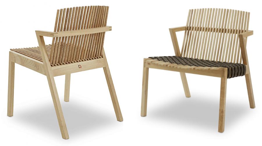 A Cadeira SE7E, explica Rahyja Afrange, foi fruto de muito estudo de material, ergonomia, experimentação e prototipagem